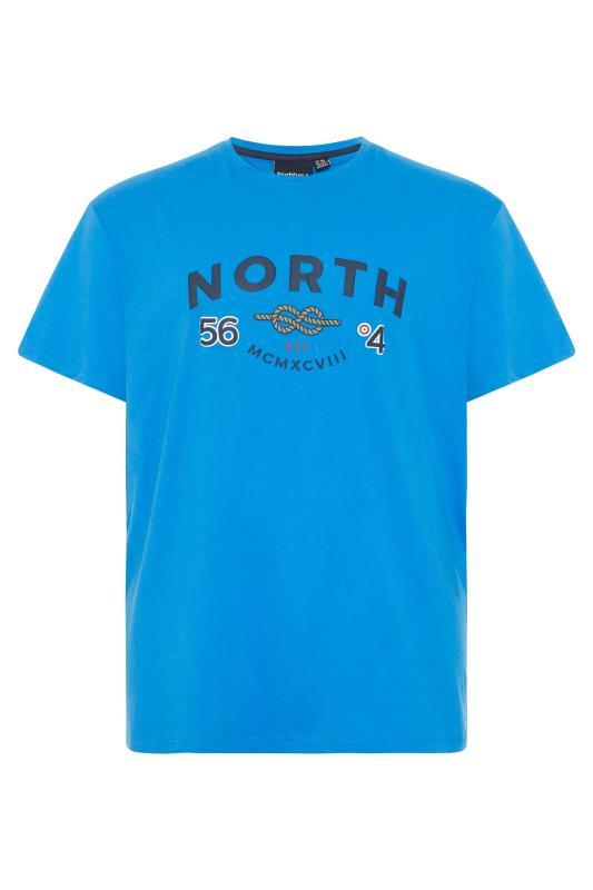 Men's  NORTH 56°4 Blue Logo Print T-Shirt