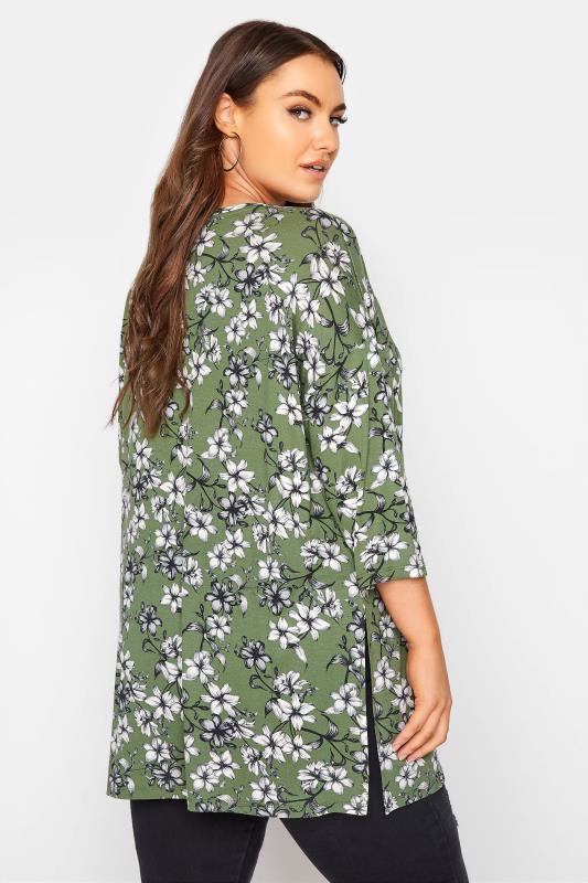 Green Floral Split Hem Tunic_C.jpg