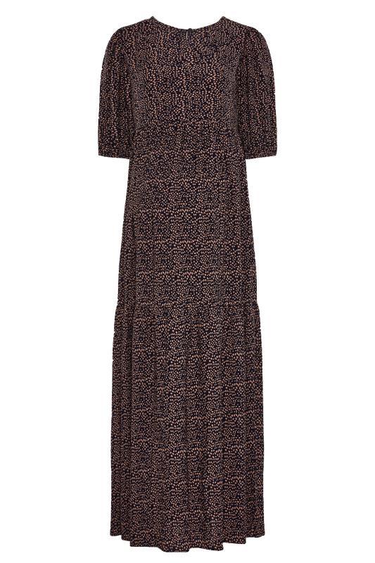 LTS Maternity Navy Speckled Smock Maxi Dress_BK.jpg