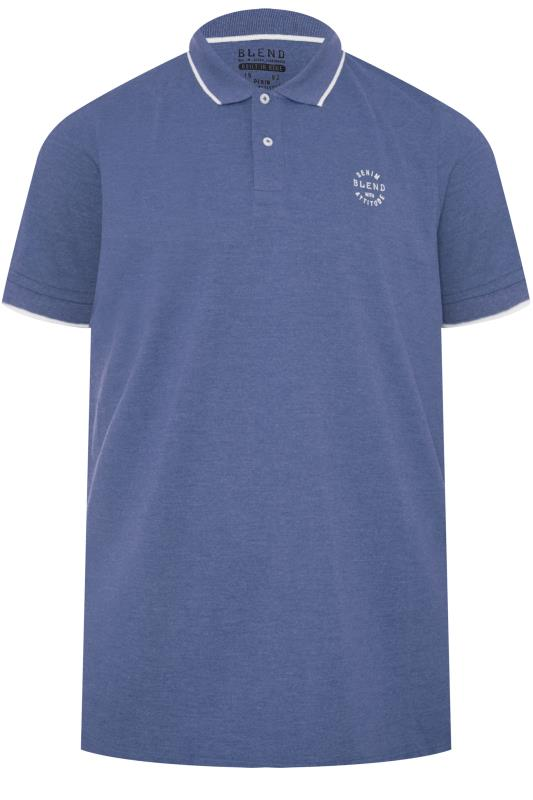 Men's Polo Shirts BLEND Blue Polo Shirt