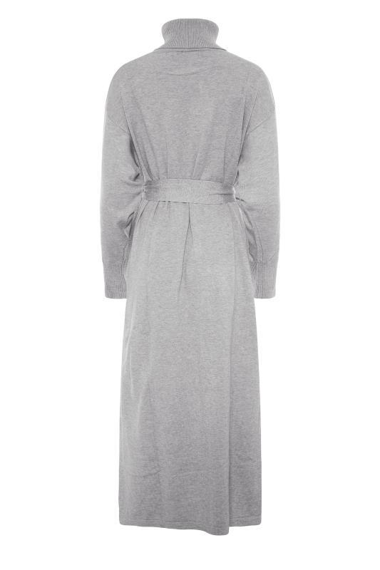 LTS Grey Roll Neck Knitted Midi Dress_BK.jpg