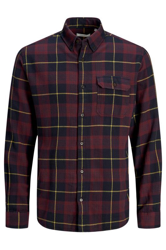 JACK & JONES Burgundy Emmerson Flannel Check Shirt_F.jpg