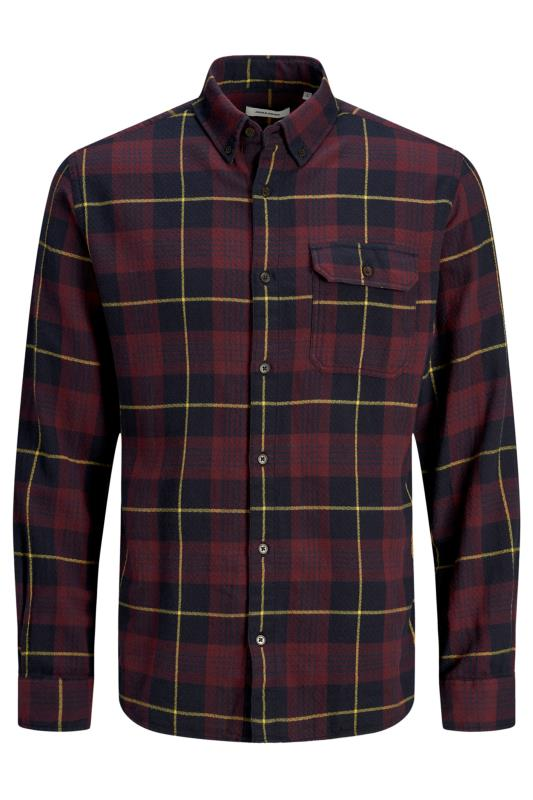 Men's  JACK & JONES Burgundy Emmerson Flannel Check Shirt