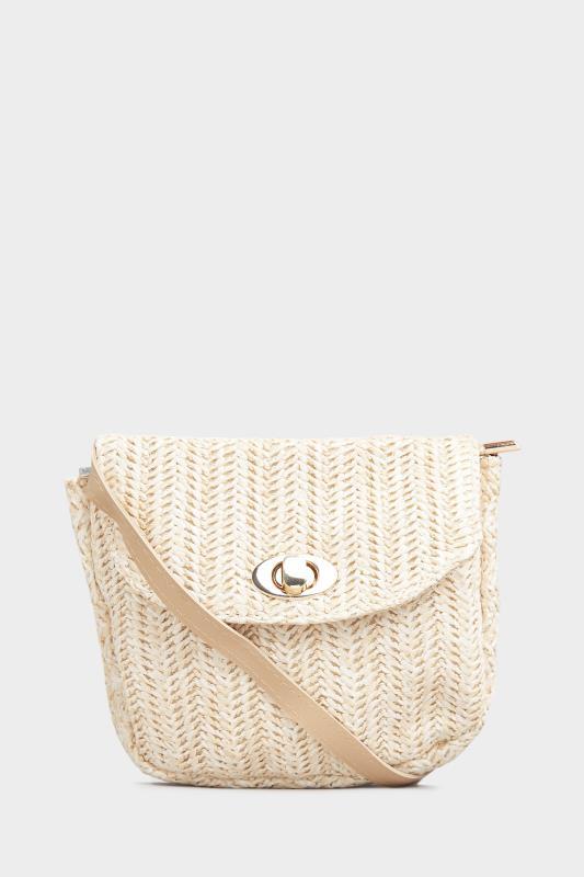 Natural Straw Cross Body Day Bag
