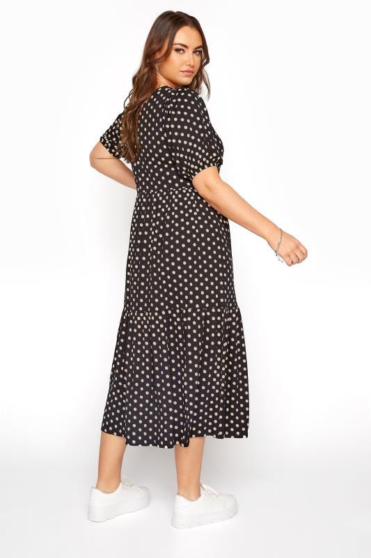 Black Puff Sleeve Polka Dot Midaxi Dress_C.jpg