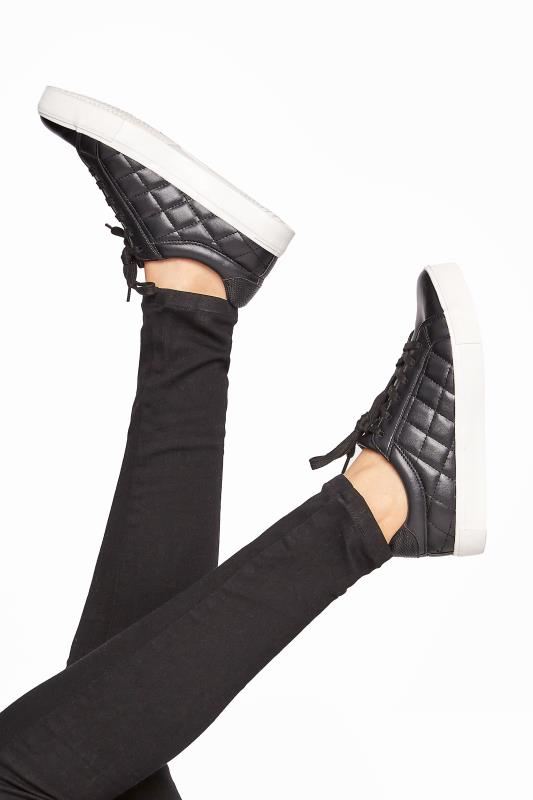 LTS Black Quilted Trainer