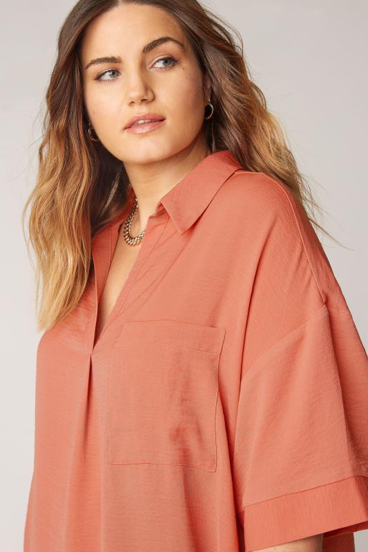 THE LIMITED EDIT Orange Pleated Front Top_D.jpg