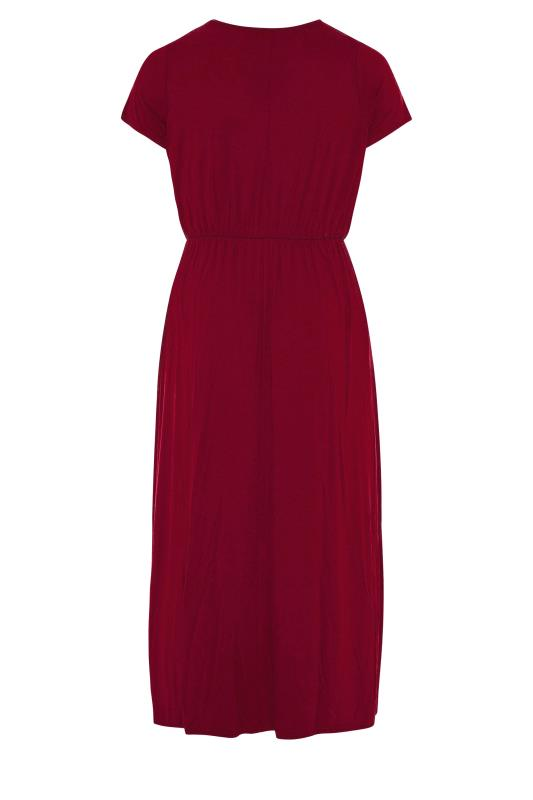 YOURS LONDON Wine Red Pocket Maxi Dress_bk.jpg