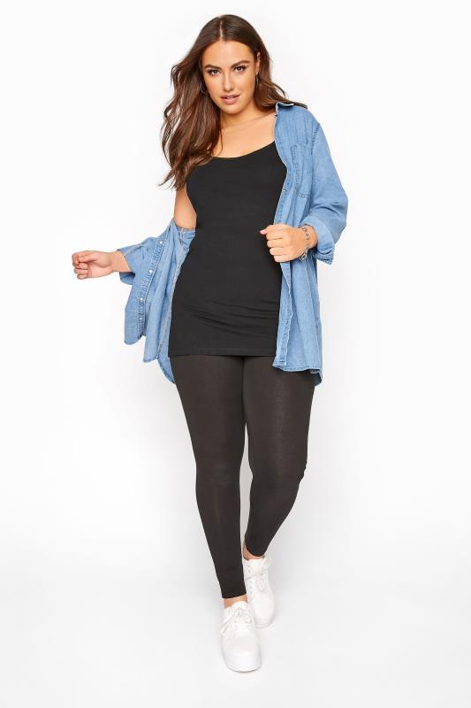 Black Cami Vest Top