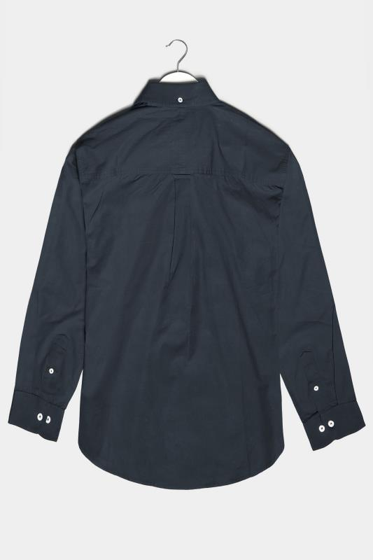 BadRhino Navy Essential Long Sleeve Oxford Shirt_BK.jpg
