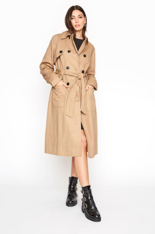 Tall Coats Stone Premium Cotton Trench Coat