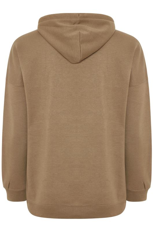 LIMITED COLLECTION Brown Cotton Jersey Hoodie
