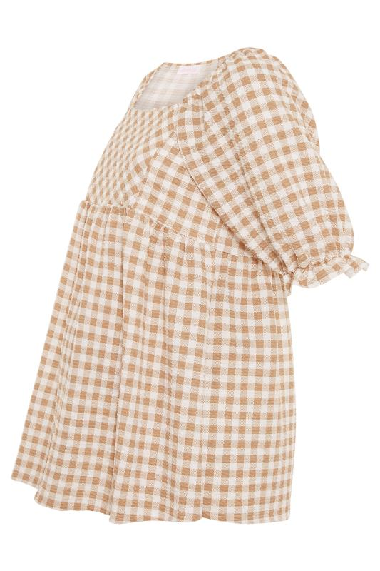 BUMP IT UP MATERNITY Ivory Gingham Square Neck Top_F.jpg