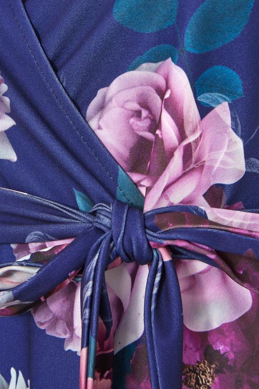 YOURS LONDON Blue Floral Rose Skater Dress_S.jpg