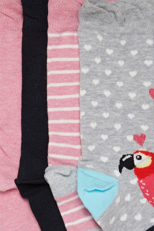4 PACK Parrot Ankle Socks