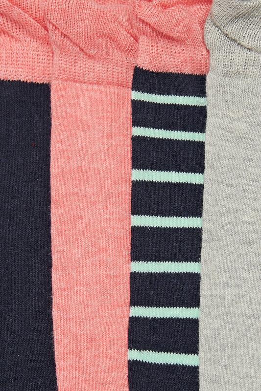 4 PACK Stripe Ankle Socks