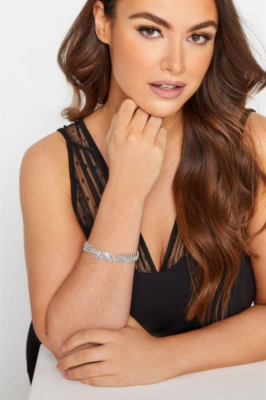 Plus Size  Diamante Twist Bracelet