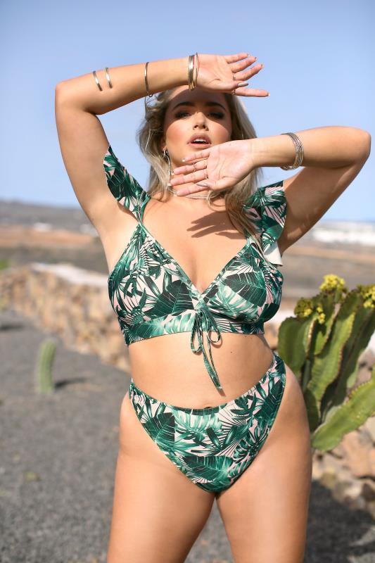 LIMITED COLLECTION Green Palm High Leg Bikini Briefs_lifestyle1.jpg