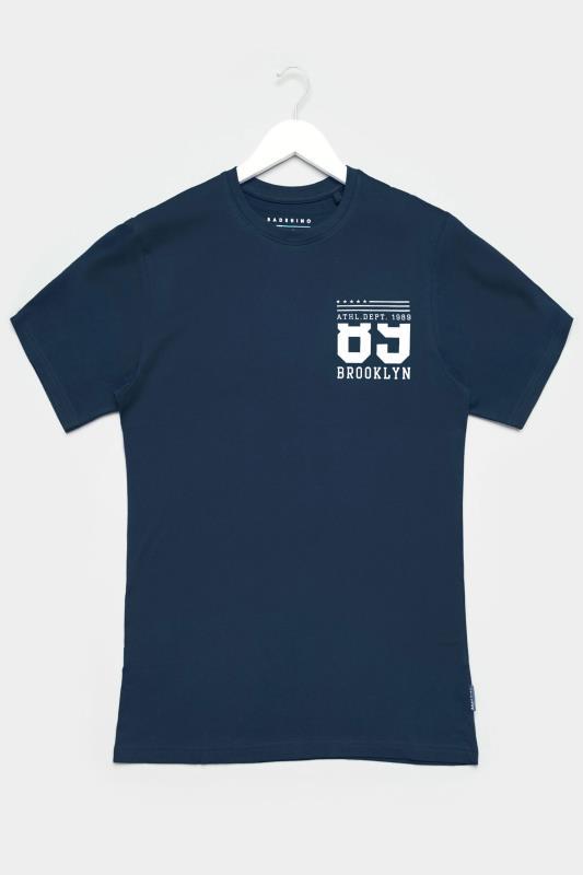 Men's Casual / Every Day BadRhino Navy Brooklyn Logo T-Shirt