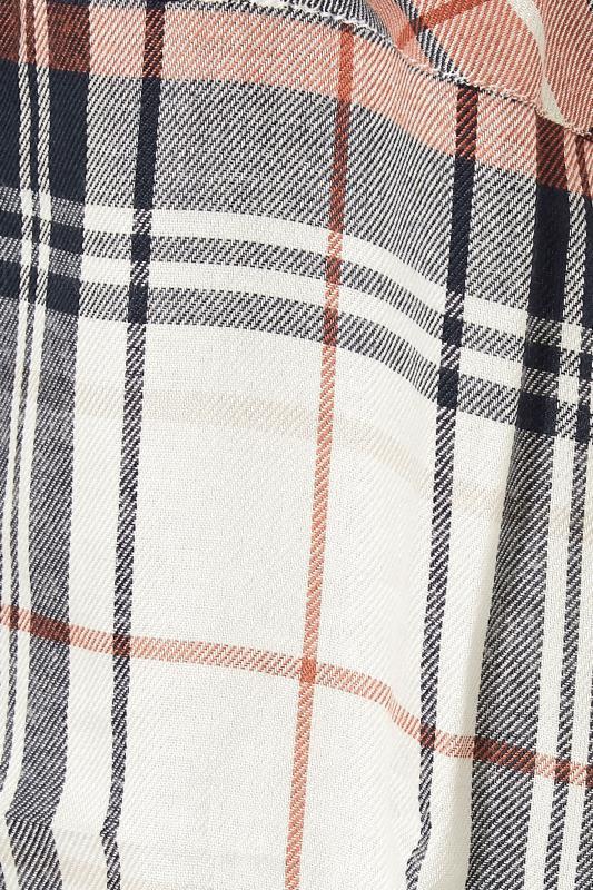LTS Orange & Navy Check Boyfriend Shirt_S.jpg