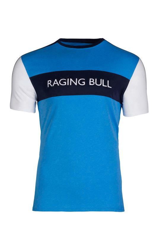 RAGING BULL Blue Cut & Sew T-Shirt_F.jpg