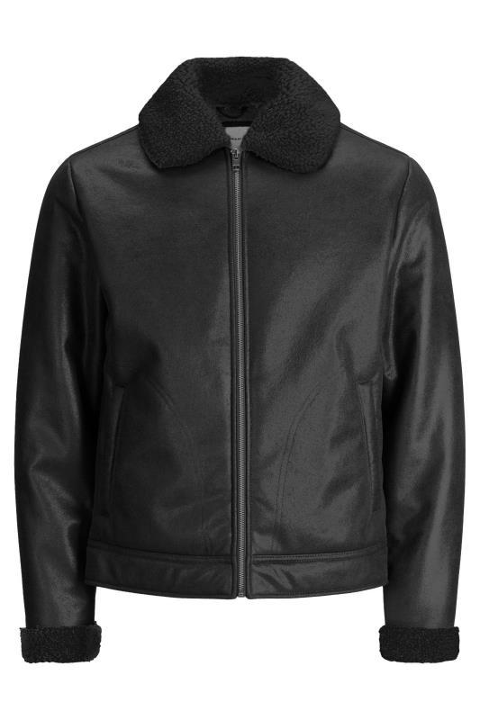 Casual / Every Day Tallas Grandes JACK & JONES Black Flight Faux Leather Jacket