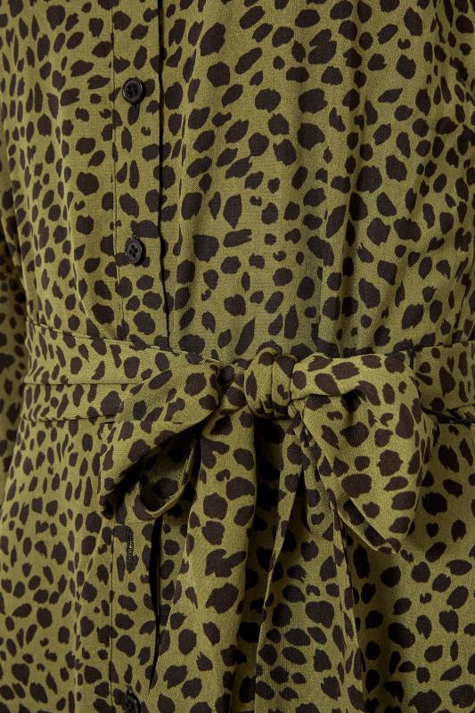 LTS Khaki Animal Print Shirt Midi Dress_S.jpg