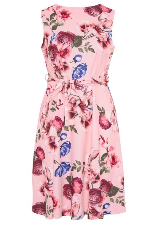 YOURS LONDON Pink Floral Skater Dress_F.jpg
