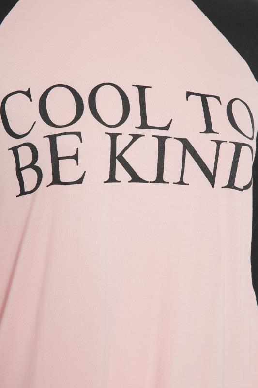 LIMITED COLLECTION Pink 'Cool To Be Kind' Slogan Top_S.jpg