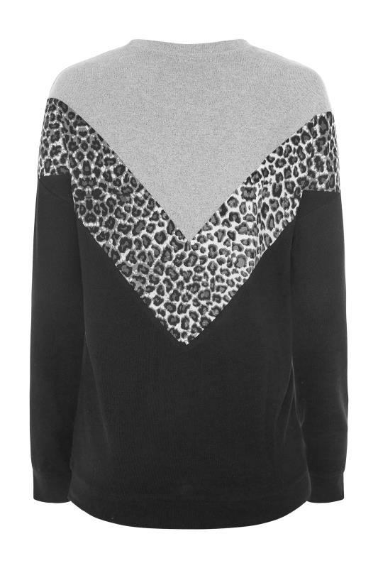 LTS Grey & Black Colour Block Soft Touch Top_BK.jpg