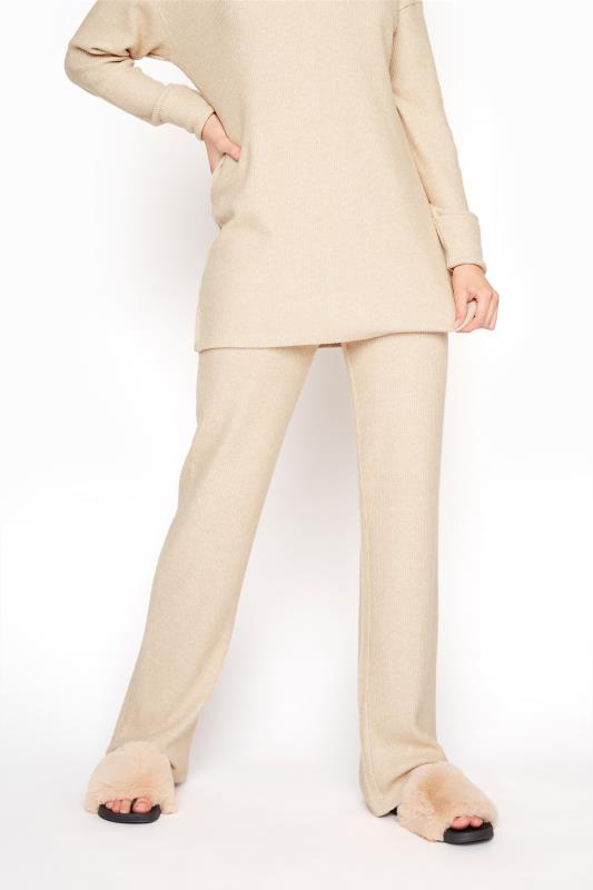 LTS Beige Soft Ribbed Co-ord Lounge Trousers