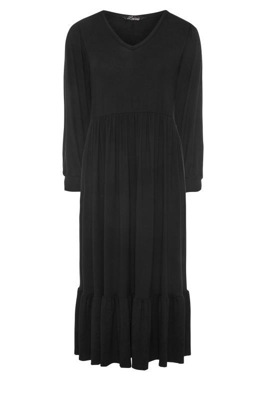 LIMITED COLLECTION Black Smock Midi Dress_F.jpg