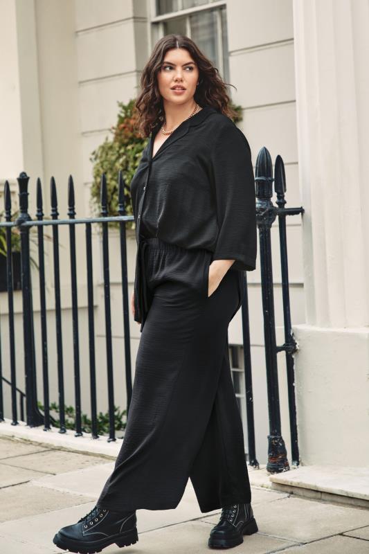 THE LIMITED EDIT Black Wide Leg Trousers_L1.jpg