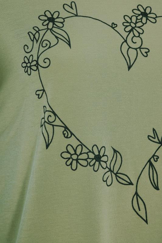 LIMITED COLLECTION Khaki Heart Print T-Shirt_S.jpg