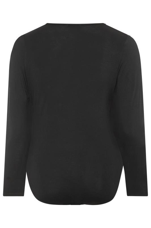 LIMITED COLLECTION Black Basic V-Neck Bodysuit