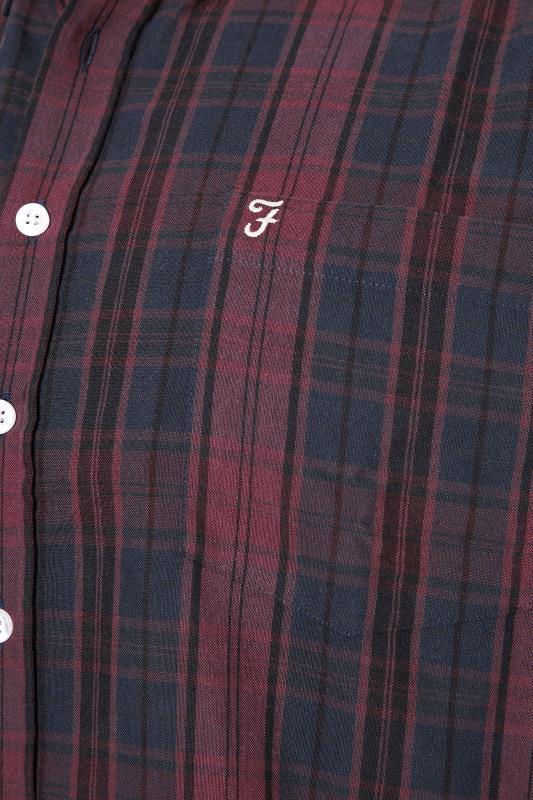 FARAH Burgundy Oxford Check Shirt_S.jpg