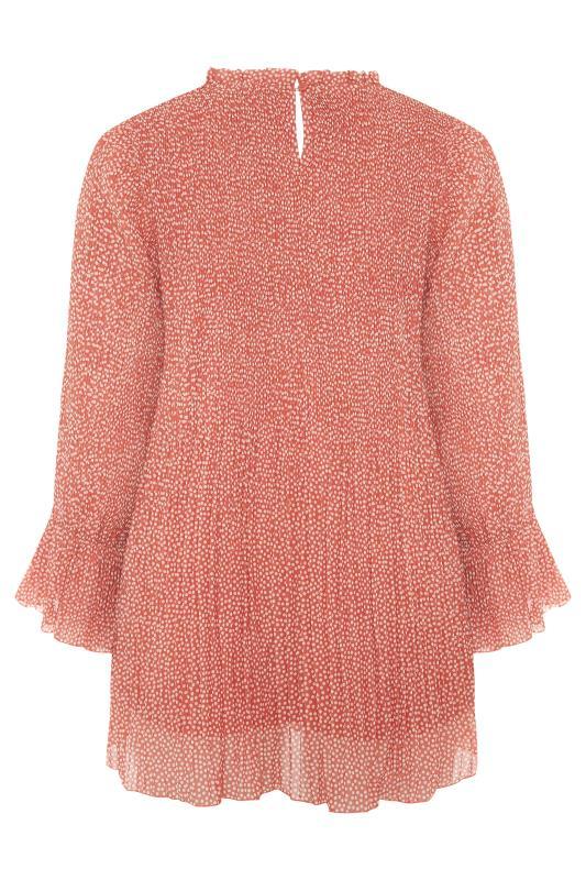YOURS LONDON Pink Polka Dot Flared Sleeve Blouse_BK.jpg