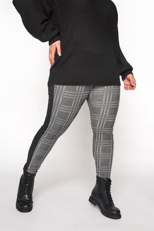 Black and White Side Stripe Scuba Trousers_C.jpg