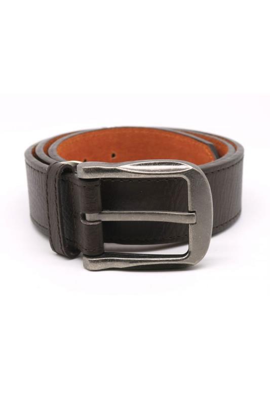 Men's  D555 Brown Large Buckle Belt