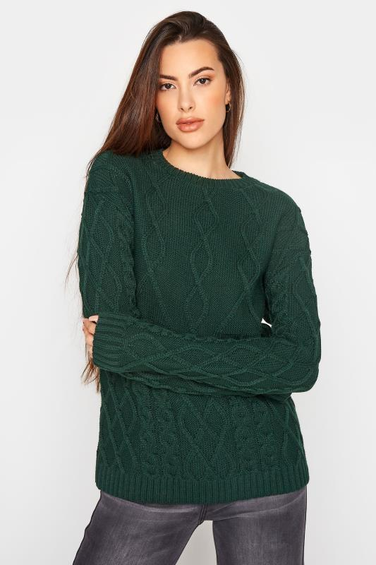 LTS Forest Green Cable Knit Jumper_A.jpg