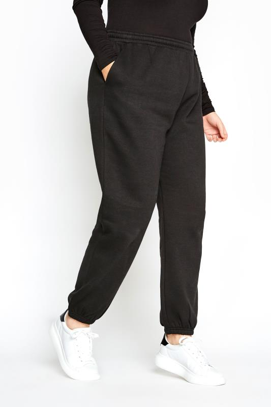 LIMITED COLLECTION Black Cotton Jersey Joggers