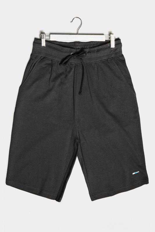 Plus Size  BadRhino Black Essential Jogger Shorts