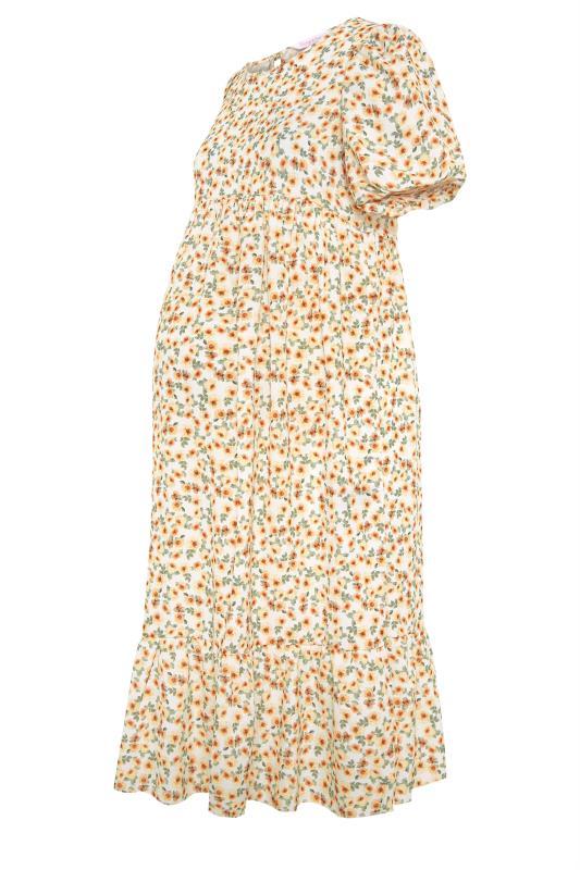 BUMP IT UP MATERNITY Ivory Floral Puff Sleeve Smock Dress_F.jpg
