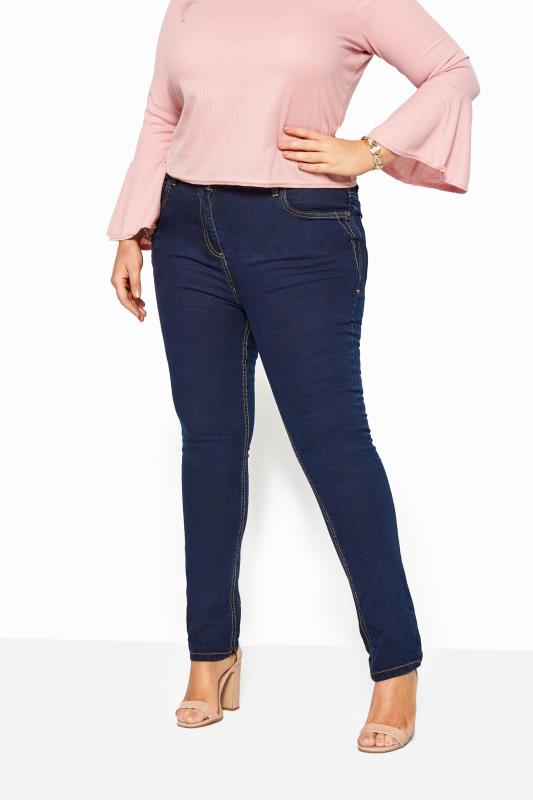 Plus Size Straight Leg Jeans Indigo Blue Straight Leg RUBY Jeans