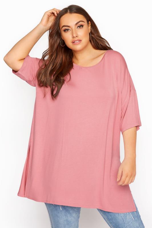 Rose Pink Oversized T-Shirt