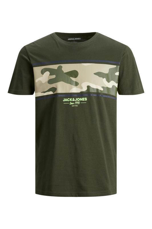 Men's  JACK & JONES Khaki Camo T-Shirt