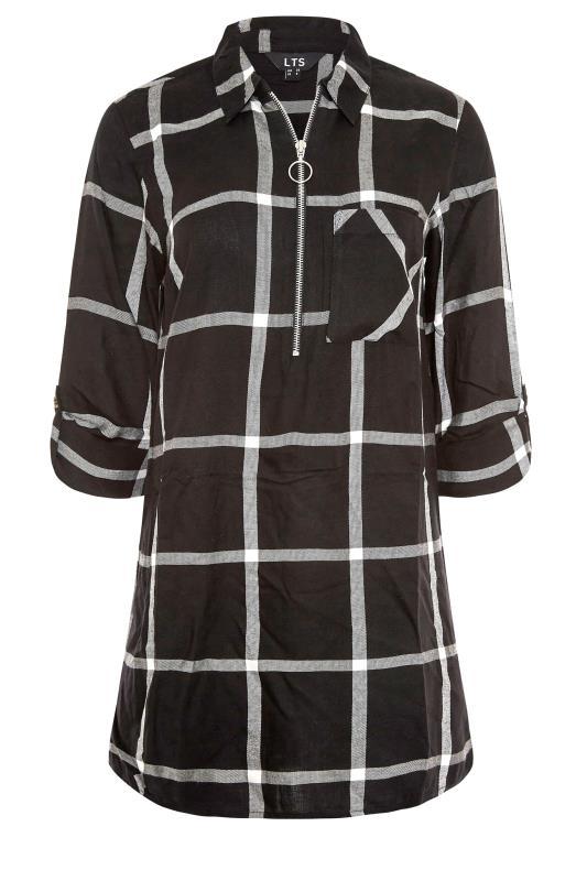 LTS Black Check Zip Shirt_F.jpg