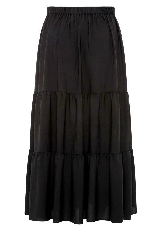 THE LIMITED EDIT Black Tiered Smock Maxi Skirt_BK.jpg