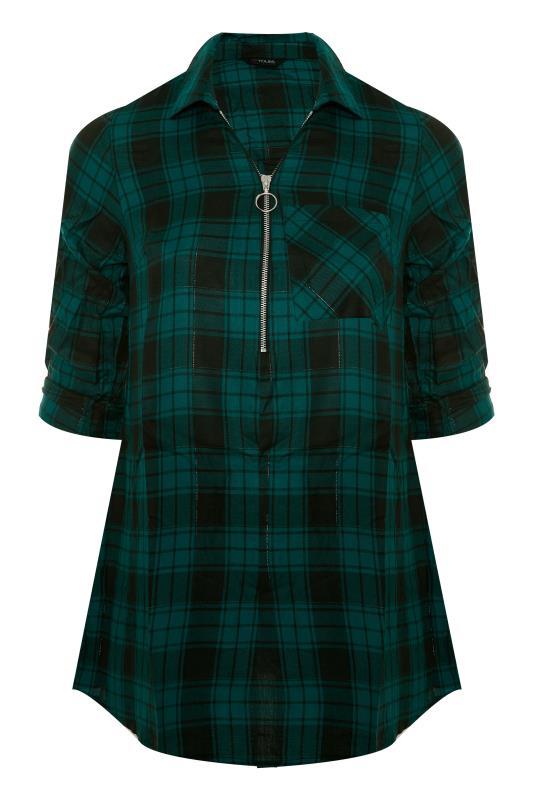 Forest Green Zip Check Shirt_F.jpg