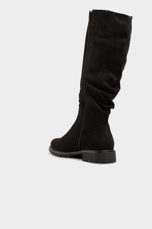 Black Ruched Cleated Boots In Regular Fit_D.jpg